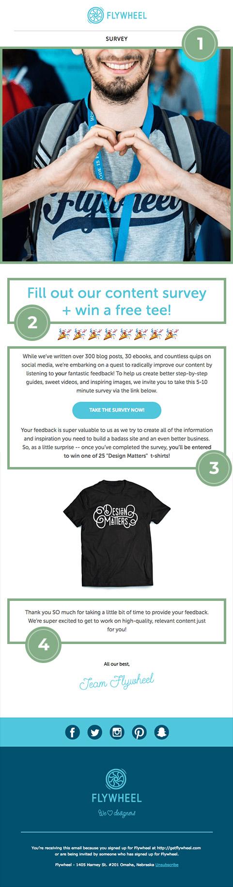Customer feedback Flyweel email