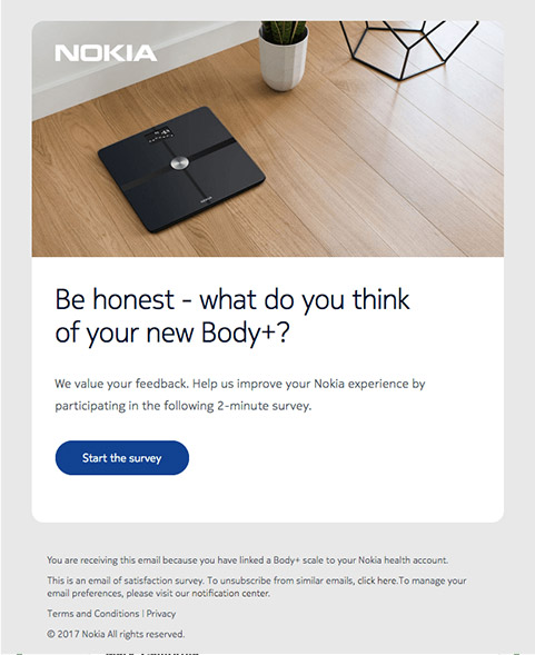 Feedback survey Nokia