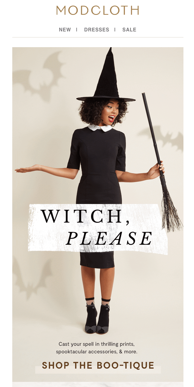 Humor in email marketing - ModCloth