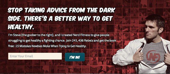 Humor in email marketing - Nerd Fitness