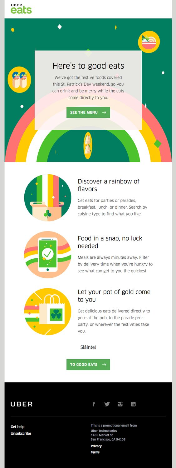 Saint Patrick's Day email 3
