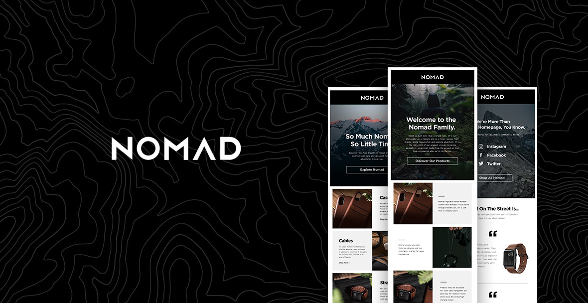 Case Study: How Nomad Welcomes Their New Email Subscribers