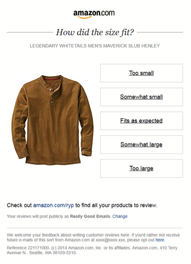 Email Personalization - Amazon