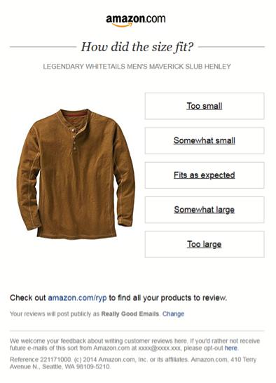 Email Personalization - Amazon