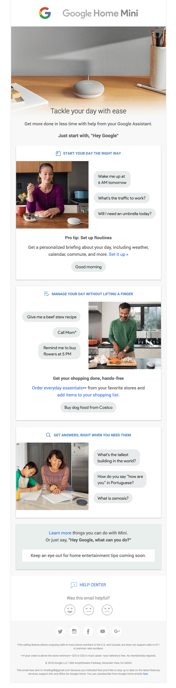Google - Post-purchase email