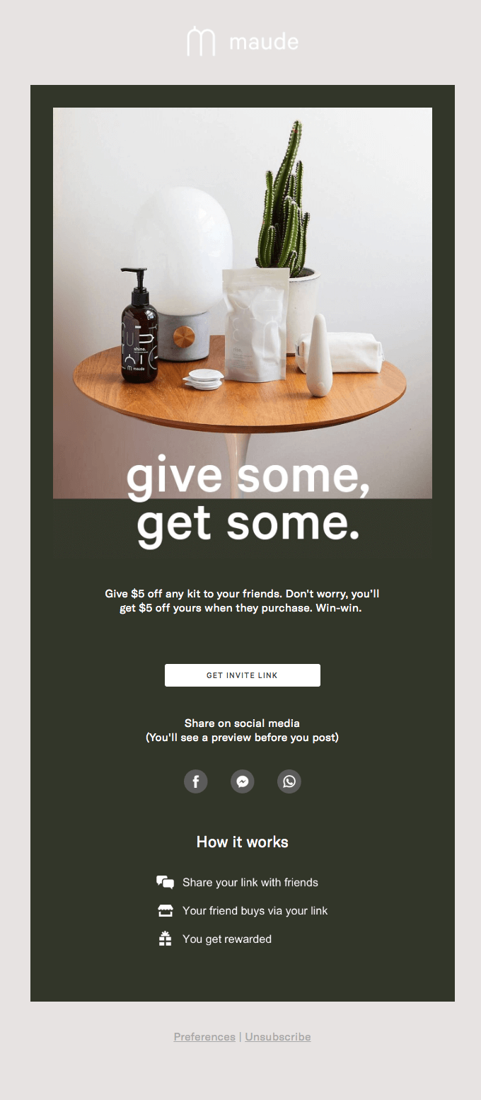 Maude - Post-Purchase emails