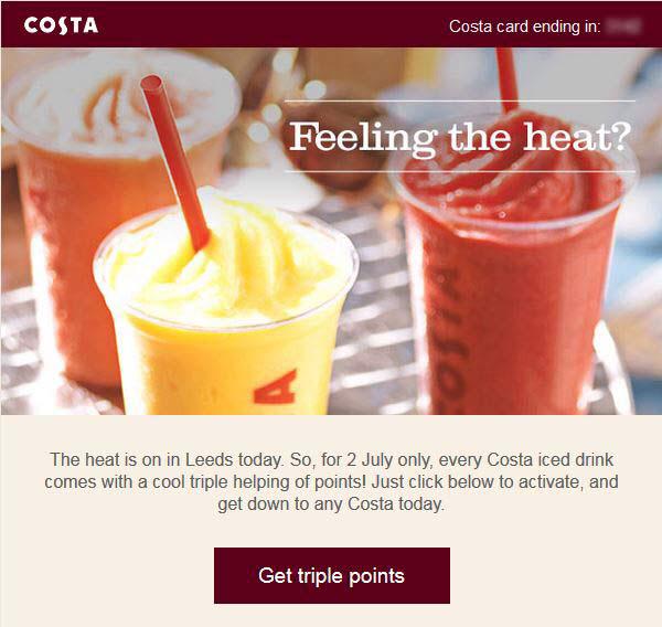 Costa - fun summer email