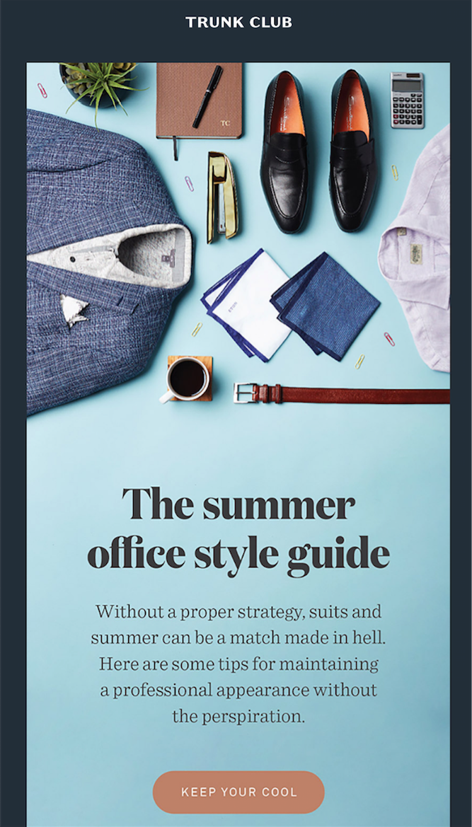 Summer email inspiration - Trunk Club