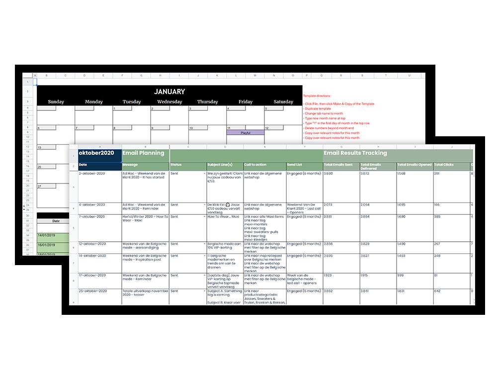 Content- en email planning
