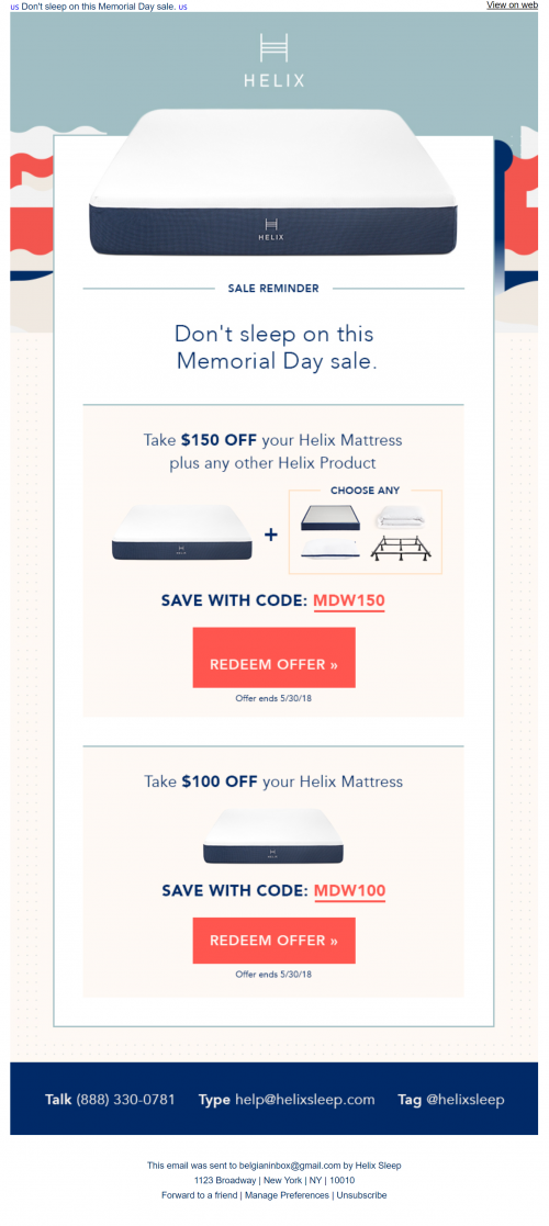 Memorial Day Sale - email 3