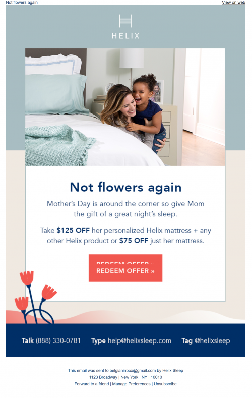 Mothersday email